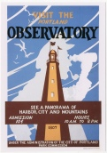 "Visit the Portland Observatory"" Maine art Project by WPA c. 1937"