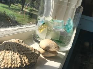 Seaglass shell
